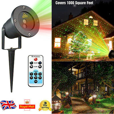 Moving Star LED Laser Light Projector Inside Outside Garden For Xmas Party Decor