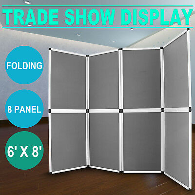 6'x8' Folding 8 Panels Trade Show Display Booth Screen Backdrop  Banner Stand