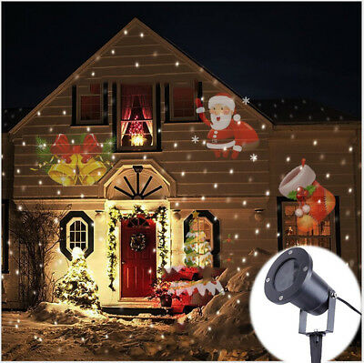 Moving LED Laser Projector Lamp Landscape Garden Light Xmas Halloween For Party