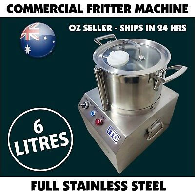 Commercial Food Processor Fritter Machine 750W 6L Meat mincer Stainless Steel