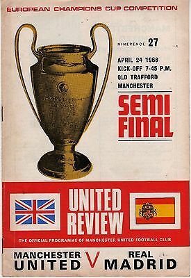 1968 European Cup s/final Manchester United v Real Madrid