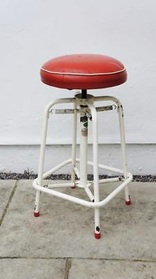 Unusual Vintage mid 20th c retro  spring loaded, sprung, industrial stool