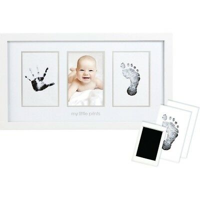 New Pearhead Babyprints Deluxe Desktop Frame -  3 Frame Desk With Ink Pad