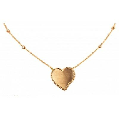Necklace Gold 18 Carat With Heart New Under Warranty - Tailored