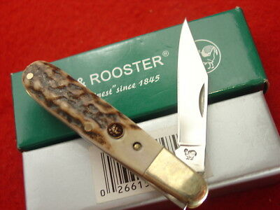 """Hen & Rooster Spain Genuine Stag 251DS 2-7/8"""" Barlow Jack Knife MINT IN BOX"""