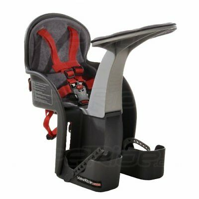 WeeRide Safe Front Child Bike Seat - Grey/Red