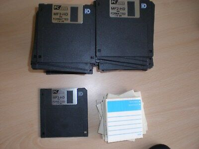 3.5 inch Floppy Discs MF2-HD IBM Formatted 1.44 Mb with labels 60 off