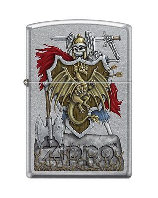 Zippo 2526, Dragon Shield-Warrior, Street Chrome Finish Lighter
