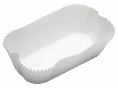 Non Stick Paper Loaf Tin Liners 40 Pack 2lb White 20x9cm Kitchen Craft Baking