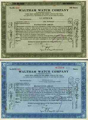 2 x Waltham Watch Company 1950 Roxbury Massachusetts Boston Rare  alte Ausgaben