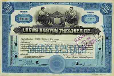 Loews Boston Theatres Co. 1932 Kino Lichtspiele Metro Goldwyn Mayer New York TOP