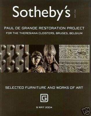 Sotheby's Catalogue Paul de Grande Restoration Project