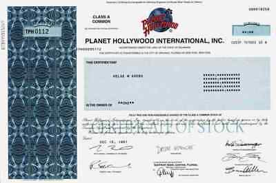 Planet Hollywood 1997 Delaware Bruce Willis Demi Moore Schwarzenegger Stallone A