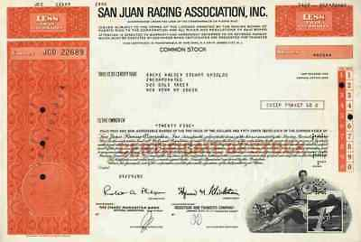 San Juan Racing Association 1982 Puerto Rico New Jersey New York Pferderennbahn