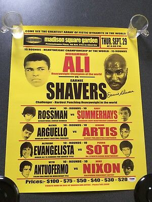 Earnie Shavers Signed Poster (PSA/DNA Authenticated)