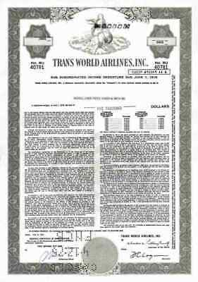 Trans World Airlines 1961 TWA Hughes St. Louis Missouri 5000 Dollar PanAm Air