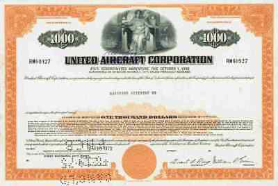 United Aircraft 1970 UTC Otis Carrier Sikorsky Pratt Whitney Boeing 1000 Dollar