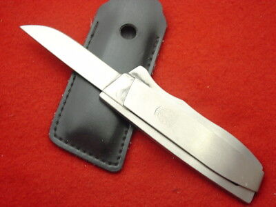 """Smith & Wesson Made in USA 7"""" Roll Fold Up Fixed blade Knife & Sheath MINT!"""