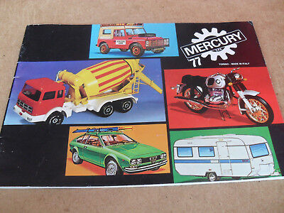 Mercury Toy Catalogue 1977 Italian Edition Excellent Condition