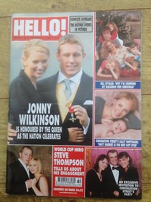 Hello magazine 796 December 23rd 2003 Rugby World cup celebration edition