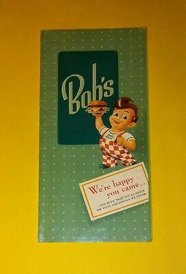 1950's Bob's Big Boy Menu From Phoenix Rare
