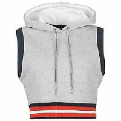 Golddigga Ladies Girls Swing Hoody Vest Sleeveless Top Grey  Size 14 R773-3