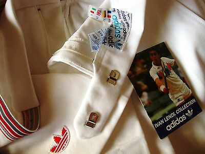 SHORTS TENNIS vintage 80's ADIDAS IVAN LENDL made in France  tg.52- XL NEW Rare