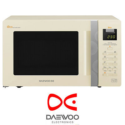 Daewoo KOR6A0RC 20L Freestanding 800W Eco Standby Touch Control Cream Microwave