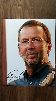 Eric Clapton Original Hand Signed Autograph 8 x 10 Photo with COA