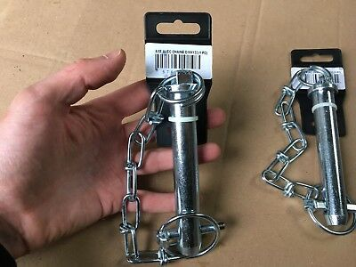 2X MASSEY TOP LINKPINS & LINCH PINS 19mm Tractor Cat 1 Linkage Lynch Toplink