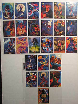 1994 Marvel Masterpieces lot of 25 cards - Skybox, Cpt. America, Hulk, Thing etc