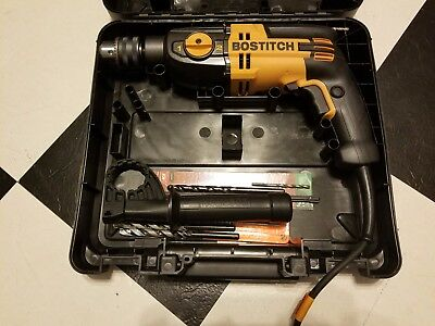 "Bostitch BTE140k 1/2"" Hammer Drill 7 Amp VSR 2-Speed with Carrying Case - USED"