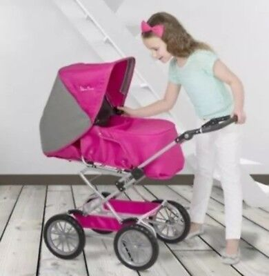 ** Silver Cross SX Sleepover 5 In 1 Dolls Pram/Pushchair - Pink - New In Box **