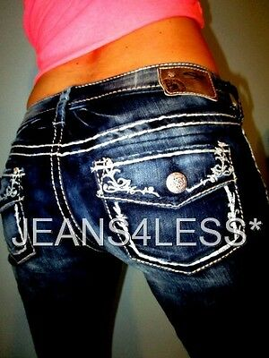 Buckle SILVER AIKO Flap Pockets Skinny Low Rise Stretch Jeans Size 3/4 27 x 31