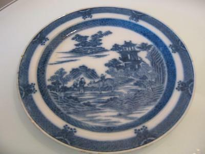 Stunning Antique Chinese Blue & White Porcelain Plate