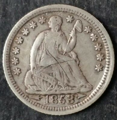 1853 5c Seated Liberty Silver Half Dime