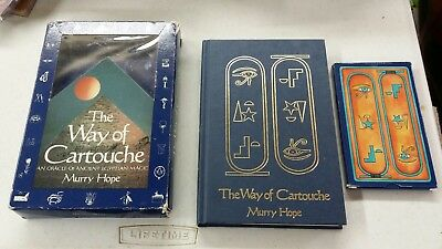 The Way Of Cartouche by Murry Hope 1st Edition Vintage Oracle Book & Card Set