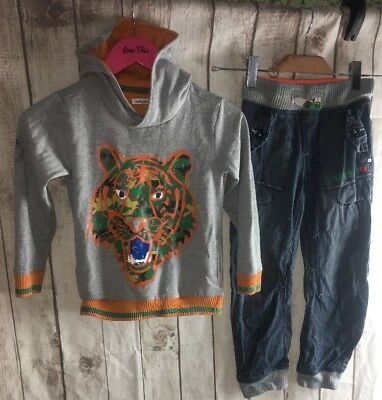 Boys Kenzo Look Sweat Hoodie Next Jogger Jeans Trendy Outfit Age 6 7 Years