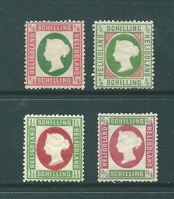 HELIGOLAND - 1880's MINT reprints of the 1869 stamps