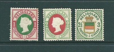 HELIGOLAND - 1880's MINT reprints of the 1875 stamps