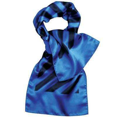 Premier PR736 Wide Stripe Navy/Royal Scarf