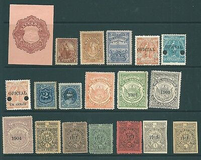 EL SALVADOR - Unusual stamp collection including fiscal and officials
