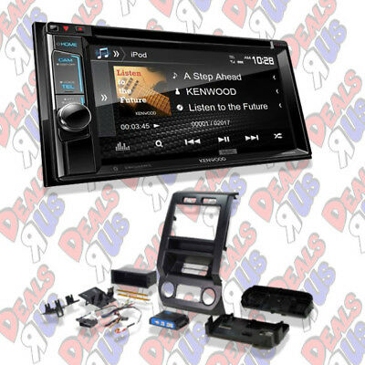"Kenwood DDX394 In-Dash Double Din 6.2"" CD/DVD Receiver Bluetooth & Dash Kit"