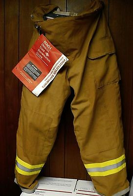 VERIDIAN PBI KEVLAR W/GORETEX LINER TURNOUT PANTS FireFighter Bunker 40/32 GOLD