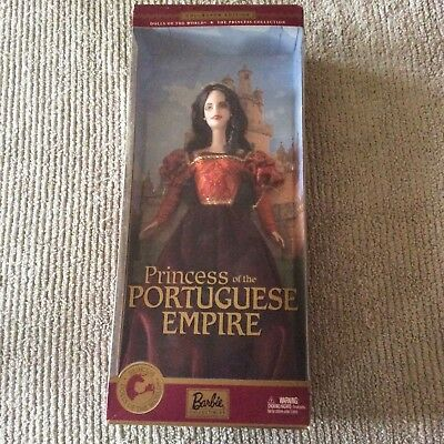 Dolls of the World Princess of the Portuguese Empire Barbie Doll NIB  Mattel