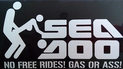 Sea-Doo GAS OR ASS! Sticker for Seadoo Spark RXP GTR GTX WAKE