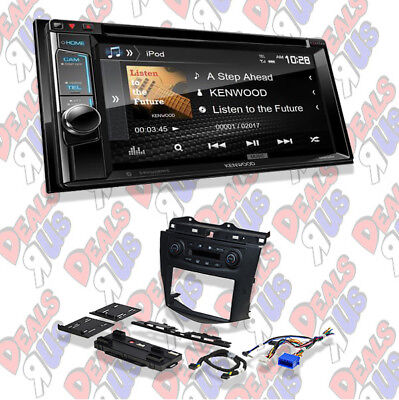"Kenwood Excelon Double DIN 6.2"" CD/DVD Bluetooth Radio Install Dash Kit Harness"