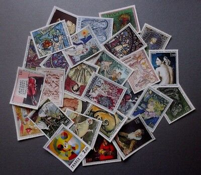 Lot Timbres France grand format tableaux neuf**