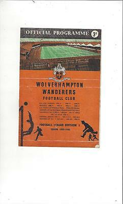 Wolves v ASK Vorwaerts European Cup 1959/60 Football Programme
