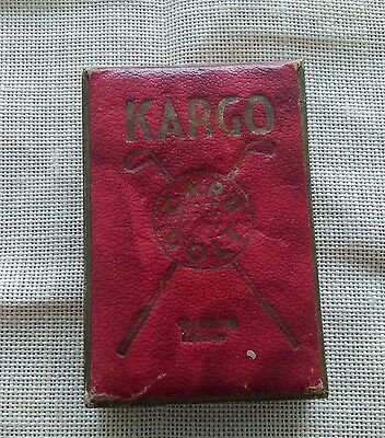 Vintage Boxed Kargo Card Golf Game Castell Brothers